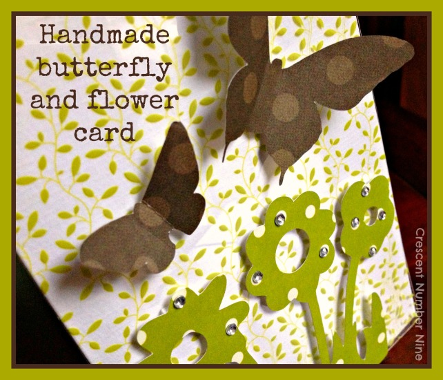 Butterfly and Flower Card